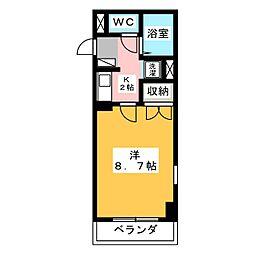 エルム元城[3階]の間取り
