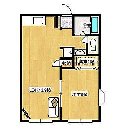 シャルム中村[2階]の間取り