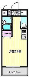 シエテ矢田[3階]の間取り