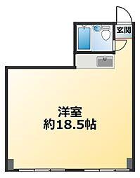 新大阪コーポビアネーズ[9階]の間取り