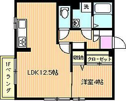 コンフォート横山[101号室]の間取り