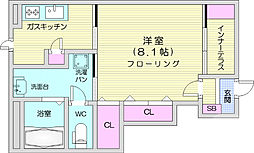 仙台市地下鉄東西線 六丁の目駅 徒歩29分の賃貸アパート 1階1Kの間取り