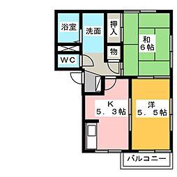 サンスクエア浅井A[2階]の間取り