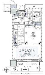 東京メトロ有楽町線 豊洲駅 徒歩13分の賃貸マンション 37階1LDKの間取り