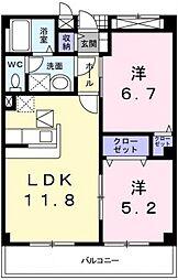 グレイス恵風[5階]の間取り