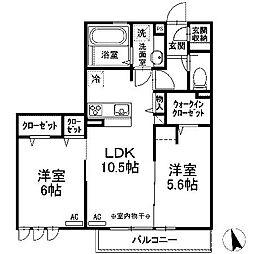 (仮)D-room西大沼[203号室]の間取り
