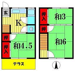 [テラスハウス] 埼玉県越谷市瓦曽根2丁目 の賃貸【/】の間取り