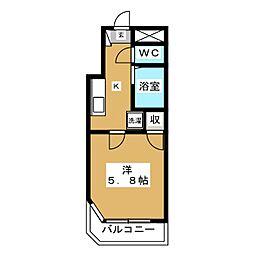 コーポ小松[3階]の間取り