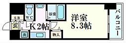 大阪府大阪市西区本田3の賃貸マンションの間取り