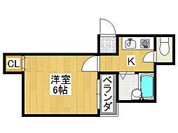 清光マンション[4階]の間取り
