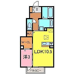 D-room西別所町[105号室]の間取り