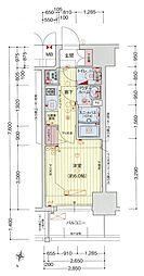 Osaka Metro中央線 阿波座駅 徒歩5分の賃貸マンション 14階1Kの間取り