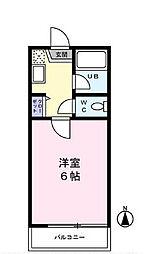 東京都世田谷区祖師谷1丁目の賃貸アパートの間取り