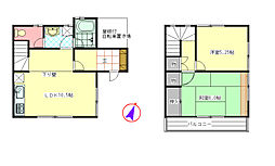 [テラスハウス] 埼玉県川越市川鶴2丁目 の賃貸【/】の間取り