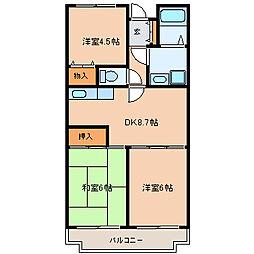東京都江戸川区北葛西5丁目の賃貸マンションの間取り