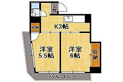 ニュー高砂[3階]の間取り