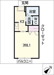 M&IHOUSE 2階1Kの間取り