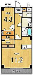 Bell・demeure石灘[4階]の間取り