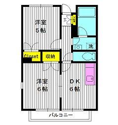 東京都豊島区南長崎の賃貸マンションの間取り