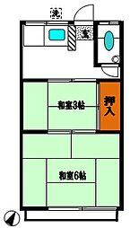 清澄荘[104号室]の間取り