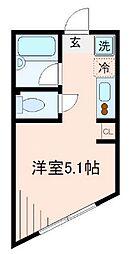 東京都台東区東浅草1丁目の賃貸アパートの間取り