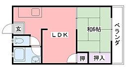 みのりマンション[203号室]の間取り