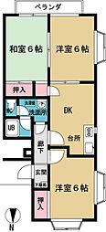 ササノコーポ[2階]の間取り