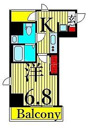 東武伊勢崎線 浅草駅 徒歩16分の賃貸マンション 5階1Kの間取り