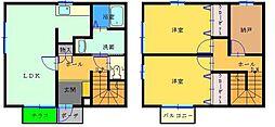 [テラスハウス] 和歌山県海南市名高 の賃貸【/】の間取り