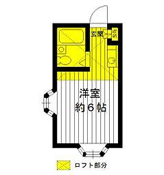 東京都練馬区豊玉南2丁目の賃貸アパートの間取り
