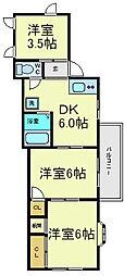 ハイツ宏栄[4階]の間取り