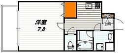 ベラジオ五条堀川III 4階1Kの間取り