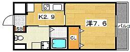 ヴァレーゼ[3階]の間取り
