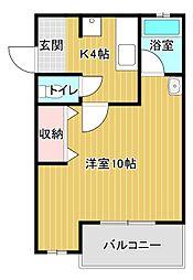 ヤングプラザMB[2階]の間取り