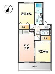 ホクトB[1階]の間取り