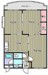 スイートホーム中島[1階]の間取り