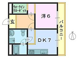 ラビタ柳町2[203号室]の間取り