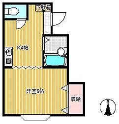 クレール薬師台2番館[1階]の間取り