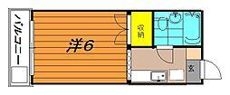 ジュネス喜多川[1階]の間取り