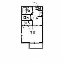 ファミリー土師[1階]の間取り