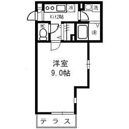 ゼフィールARAI[107号室]の間取り