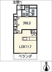 桜ヒルズ[8階]の間取り