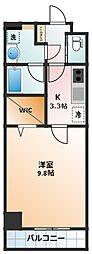 (仮称)VRD四日市 10階1Kの間取り
