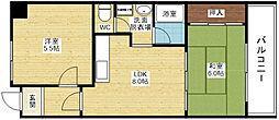 豊新ガーデンハイツ[3階]の間取り