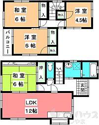 [一戸建] 愛媛県松山市中村2丁目 の賃貸【/】の間取り