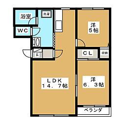 コンドミニオン[2階]の間取り
