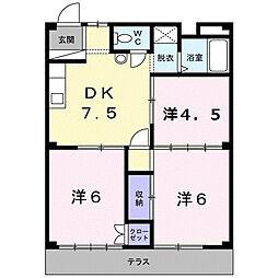 シティハイツ須藤[1D号室]の間取り