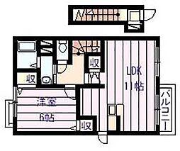 セレノ アロッジオII[2階]の間取り