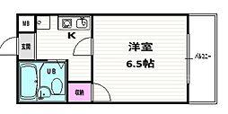 丹波橋サイドONE[202号室]の間取り