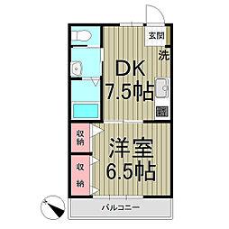 グランキュート鎌倉[1階]の間取り